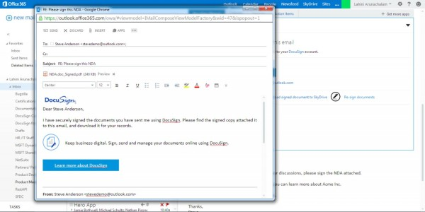 DocuSign for Office 365 - Atidan