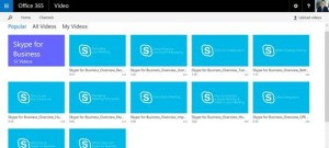 Skype for Business Video Channel in Office 365
